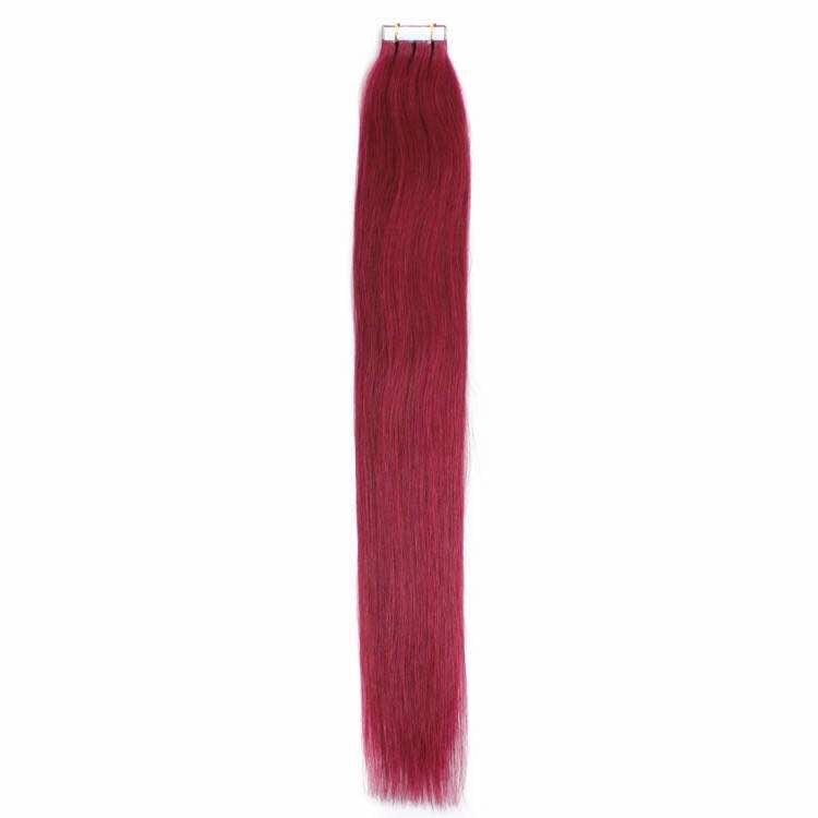Цвят: тъмно червен. Коса на стикери