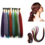 Цветни кичури с ефект перо